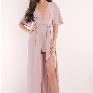 NWT Tobi romper/high-low mauve dress